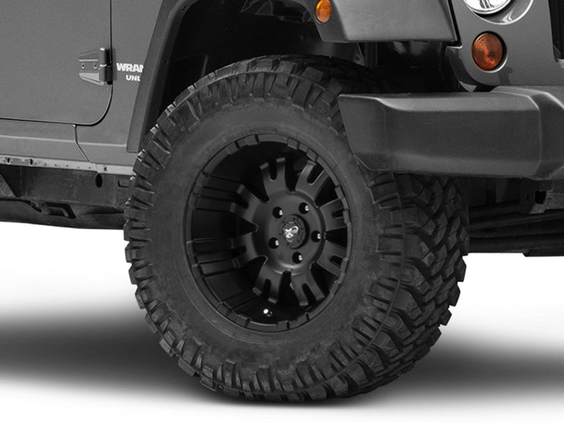 Pro Comp Wheels 01 Series Satin Black Wheel - 17x9 (07-18 Jeep Wrangler JK)