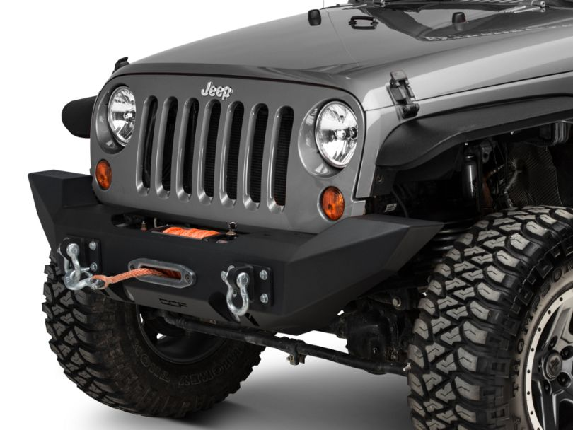 Off Camber Fabrications by MBRP Full Width Winch Front Bumper (07-18 Jeep Wrangler JK)