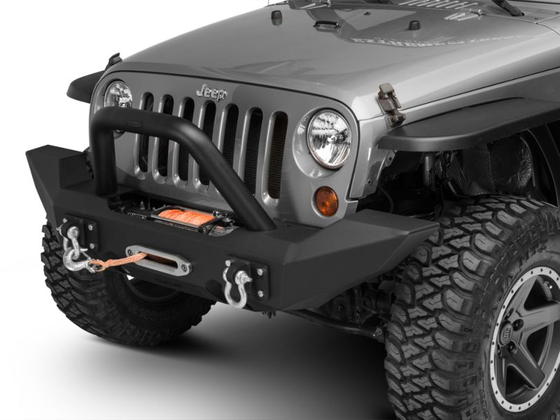 Off Camber Fabrications by MBRP Full Width Front Winch Bumper Package (07-18 Jeep Wrangler JK)
