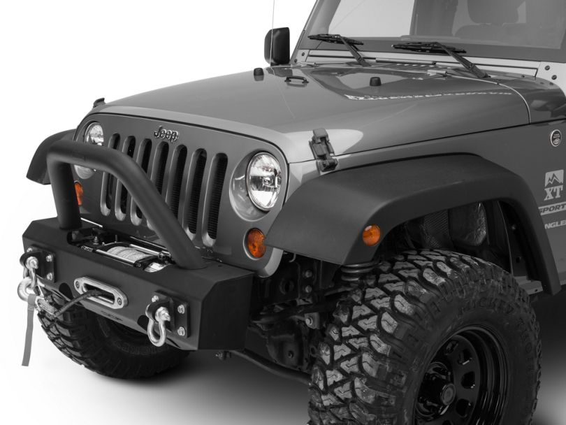 Off Camber Fabrications by MBRP Stubby Front Winch Bumper Package (07-18 Jeep Wrangler JK)