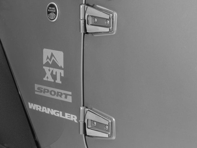 T-REX T1 Series Stainless Hood / Door Hinge Kit (07-18 Jeep Wrangler JK 2 Door)
