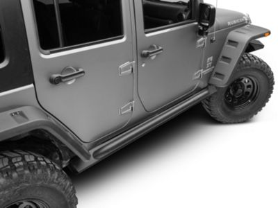 Add Off Camber Fabrications by MBRP Rock Rail Kit - Black Coated