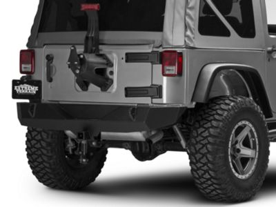 Off Camber Fabrications by MBRP Spare Tire Relocate Bracket - Black Coated (07-18 Jeep Wrangler JK)