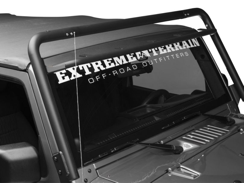 Off Camber Fabrications by MBRP Windshield Light Bar Assembly - Black (07-18 Jeep Wrangler JK)