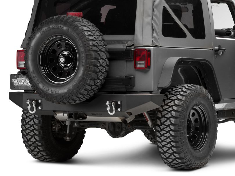 Off Camber Fabrications by MBRP Rear Full Width Bumper Package (07-18 Jeep Wrangler JK)