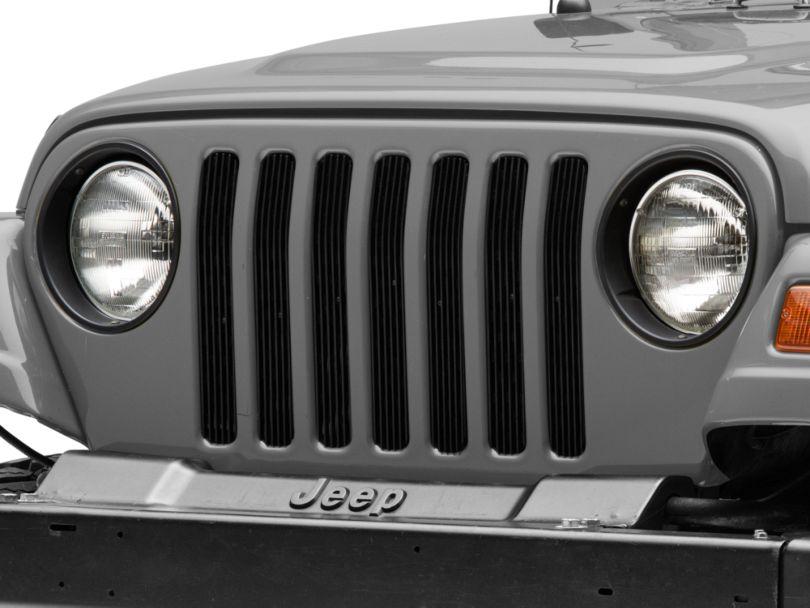 DV8 Offroad Grille Inserts, Black (97-06 Jeep Wrangler TJ)