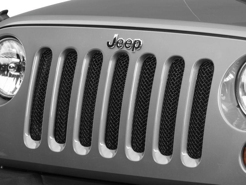 T-REX Sport Series Mesh Grille; Black (07-18 Jeep Wrangler JK)