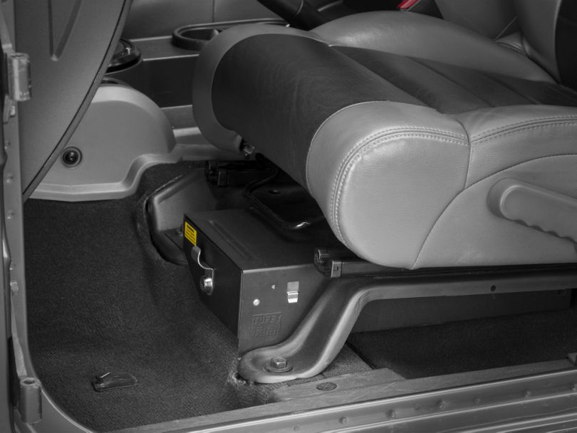 Tuffy Conceal Carry Underseat Drawer - Driver Side (07-10 Jeep Wrangler JK 2 Door; 07-18 Jeep Wrangler JK 4 Door)