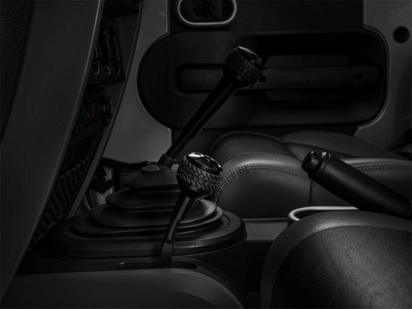 DV8 Off-Road 4WD Shifter Knob; Black (07-18 Jeep Wrangler JK)