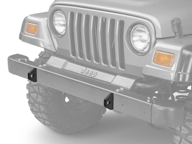 Olympic 4x4 D-Ring Mounting Brackets - Textured Black (87-06 Jeep Wrangler YJ & TJ)
