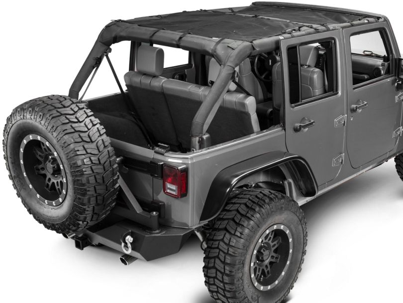 Dirty Dog 4x4 Front and Rear Sun Screen (07-18 Jeep Wrangler JK 4 Door)