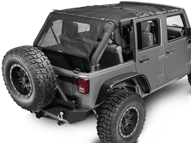 Dirty Dog 4x4 Front, Rear & Back Sun Screen (07-18 Jeep Wrangler JK 4 Door)