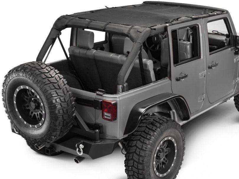 Dirty Dog 4x4 Front & Rear Sun Screen (07-18 Jeep Wrangler JK 4 Door)