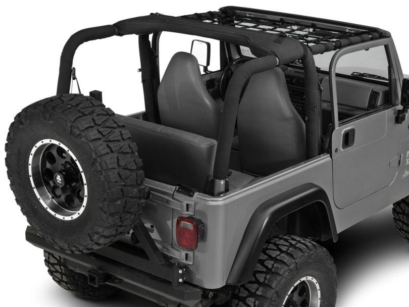 Dirty Dog 4x4 Front Netting - Black (97-06 Jeep Wrangler TJ)