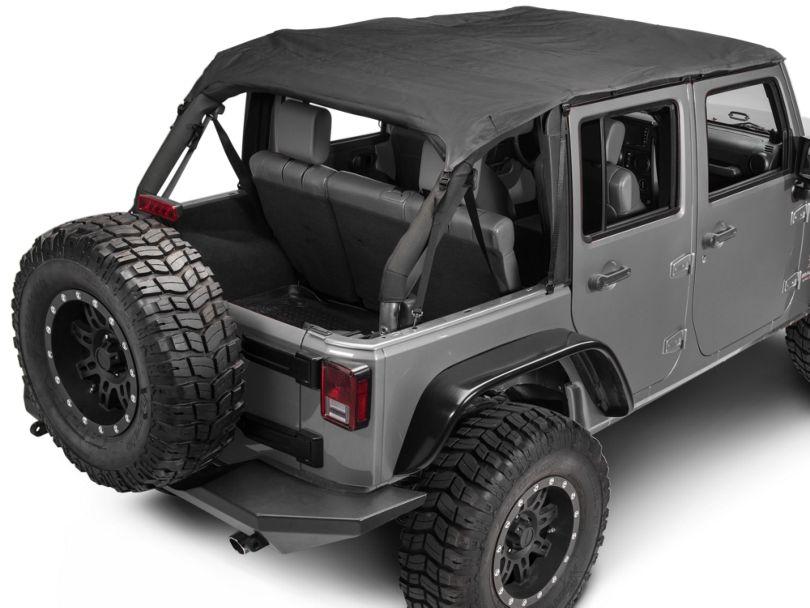 Rugged Ridge Pocket Island Top - Black Diamond (10-18 Jeep Wrangler JK 4 Door)
