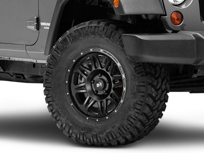 Pro Comp 05 Series Flat Black Wheel; 17x9 (07-18 Jeep Wrangler JK)