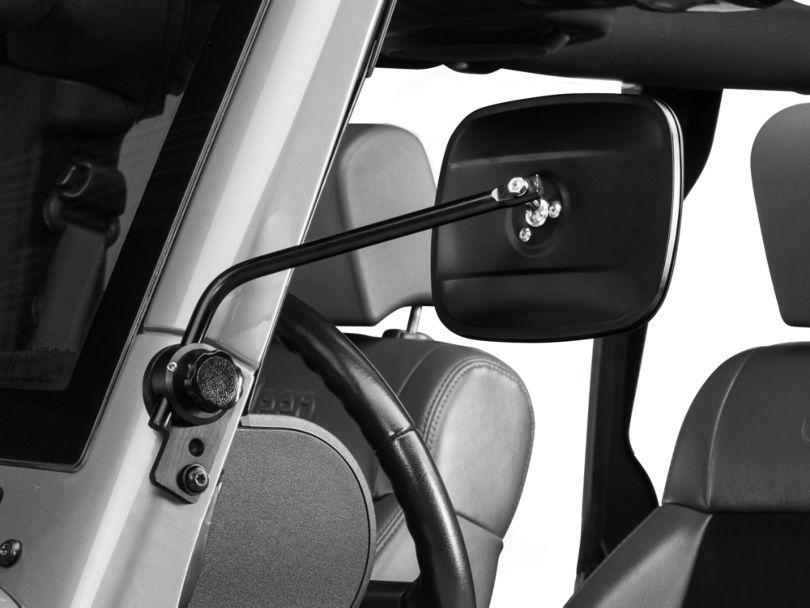 Lange Quick Mirror II - Black (07-18 Jeep Wrangler JK)
