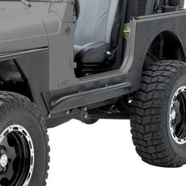 Smittybilt XRC Rock Sliders w/ Tube Step (04-06 Jeep Wrangler TJ Unlimited)