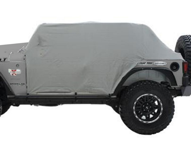 Smittybilt Water Resistant Cab Cover w/o Door Flaps - Gray (92-06 Jeep Wrangler YJ & TJ)
