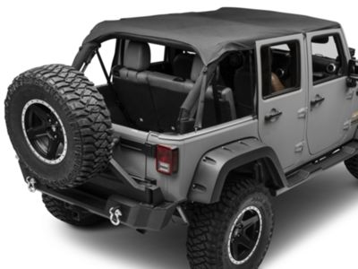 Smittybilt Extended Top - Black Diamond (10-18 Jeep Wrangler JK 4 Door)