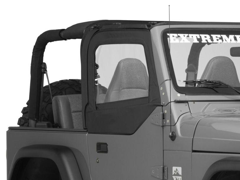 Bestop Replacement Fabric Upper Door Skins - Black Diamond (97-06 Jeep Wrangler TJ w/ Half Doors)