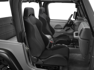 Rugged Ridge Sport Seat - Black Denim (87-02 Jeep Wrangler YJ & TJ)