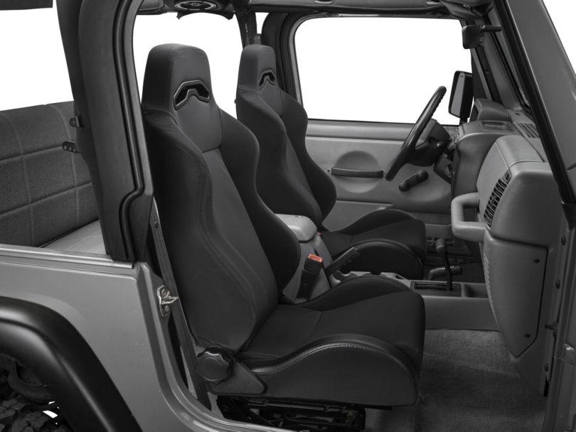Rugged Ridge Sport Reclining Front Seat - Black Denim (87-02 Jeep Wrangler YJ & TJ)