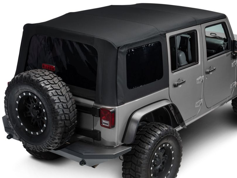 Bestop Replace-A-Top with Tinted Windows; Matte Black Twill (10-18 Jeep Wrangler JK 4 Door)