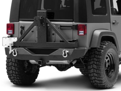 Add Barricade Trail Force HD Rear Bumper w/ Tire Carrier (Only Fits 07-18 Wrangler JK)