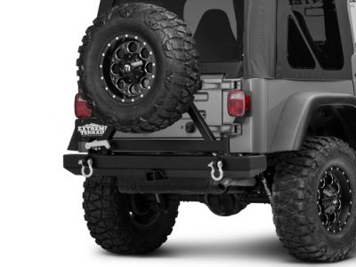 Add Barricade Classic Rear Bumper w/ Tire Carrier (87-06 Wrangler YJ & TJ)