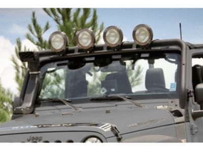 Add Rugged Ridge Light Bar Lowering Kit (07-17 Wrangler JK)