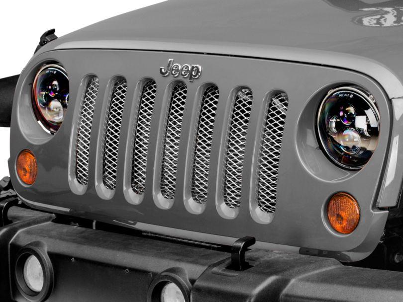 Rugged Ridge Stainless Steel Grille Insert (07-18 Jeep Wrangler JK)