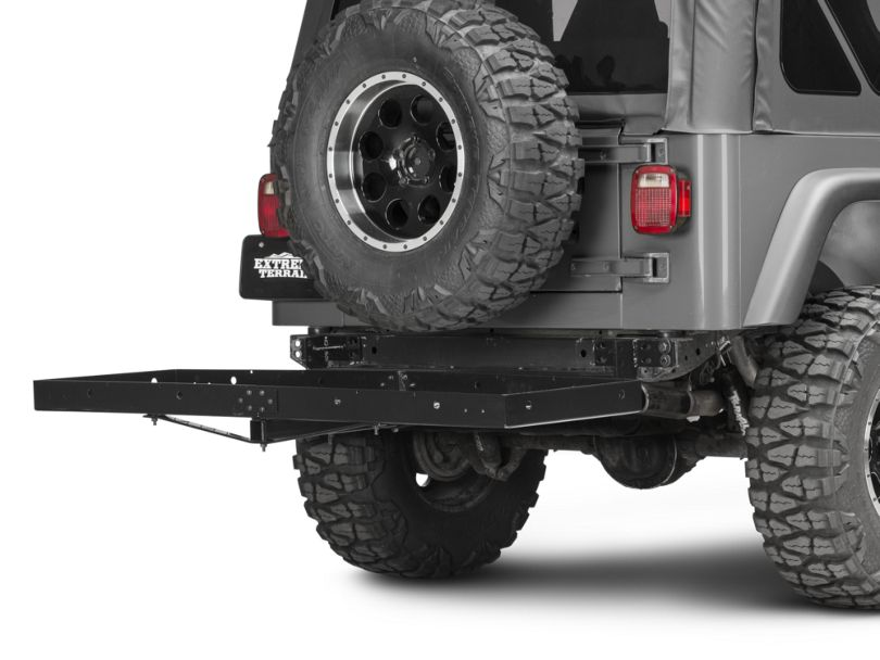 Rugged Ridge 2-Inch Receiver Hitch with Cargo Rack (87-06 Jeep Wrangler YJ & TJ)