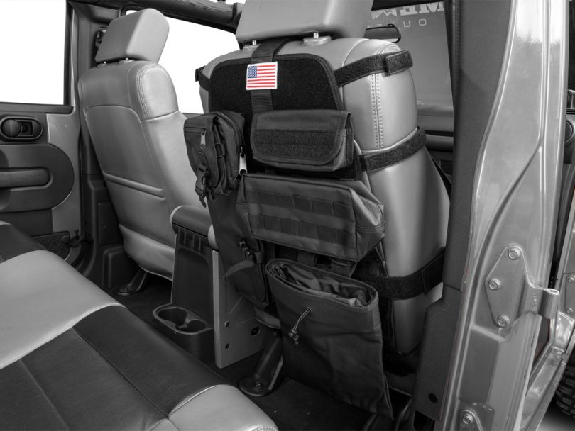 Rugged Ridge Front Cargo Seat Cover - Black (87-20 Jeep Wrangler YJ, TJ, JK & JL)