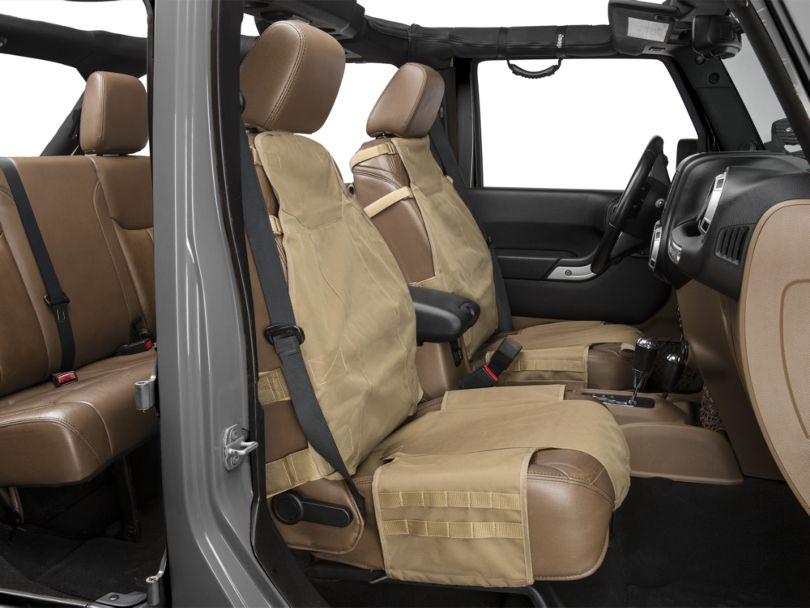 Rugged Ridge Front Cargo Seat Cover - Tan (87-20 Jeep Wrangler YJ, TJ, JK & JL)