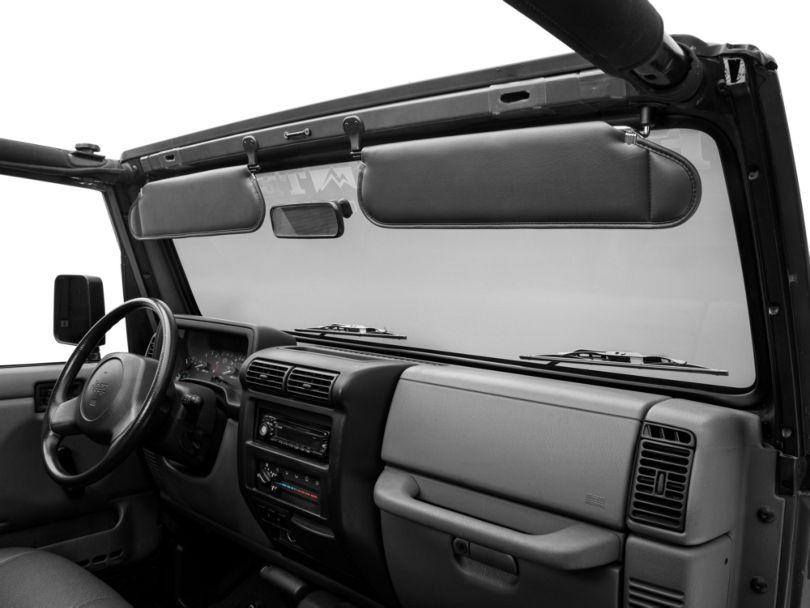 Rugged Ridge Sunvisor Set - Agate (97-02 Jeep Wrangler TJ)