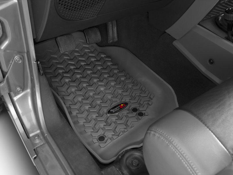 Rugged Ridge All-Terrain Front & Rear Floor Mats - Gray (07-13 Jeep Wrangler JK 4 Door)