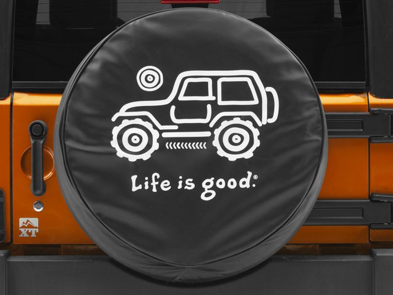 Life is Good Native Off-Road Spare Tire Cover (87-20 Jeep Wrangler YJ, TJ, JK & JL)