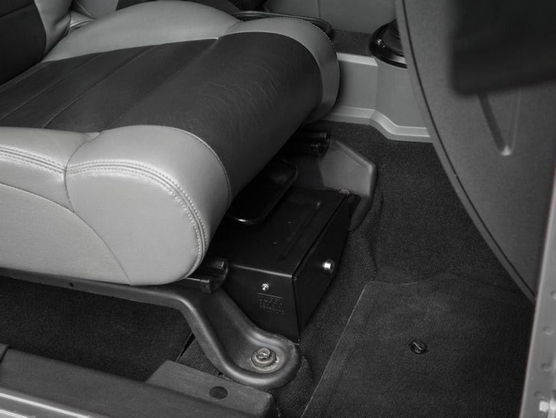 Tuffy Conceal Carry Underseat Drawer; Passenger Side (07-10 Jeep Wrangler JK 2 Door; 07-18 Jeep Wrangler JK 4 Door)