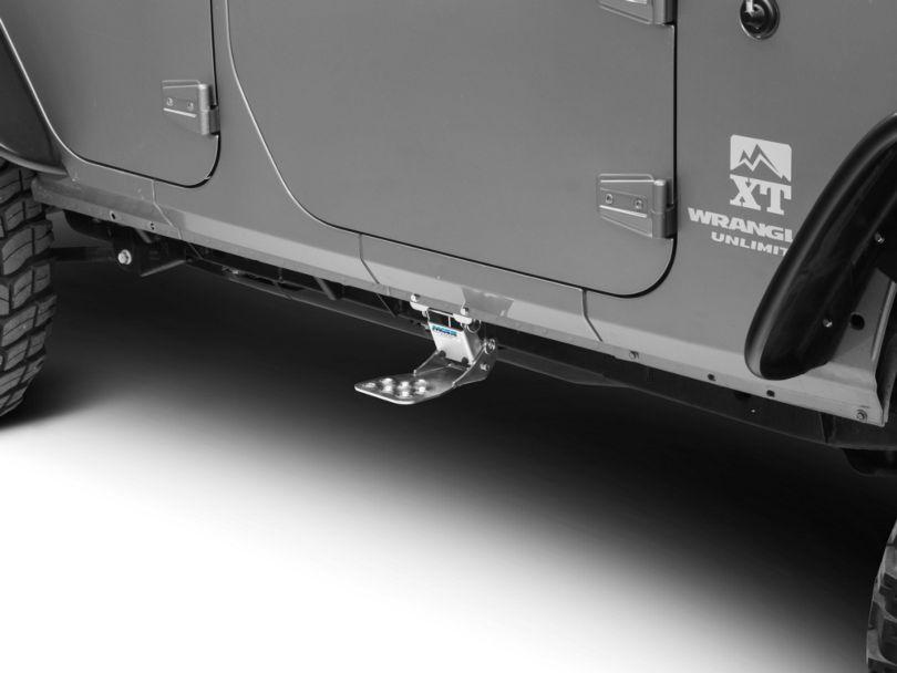 M.O.R.E. Hide-A-Step; Silver (07-18 Jeep Wrangler JK)