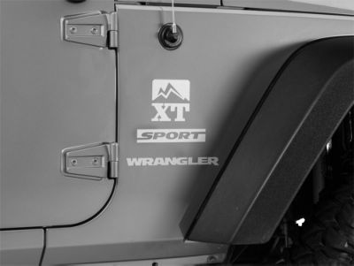 XT Graphics Side Decal - Silver (87-18 Jeep Wrangler YJ, TJ, JK & JL)