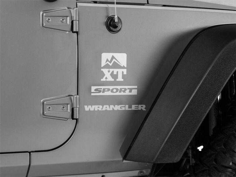 Side Decal - Silver (87-20 Jeep Wrangler YJ, TJ, JK & JL)