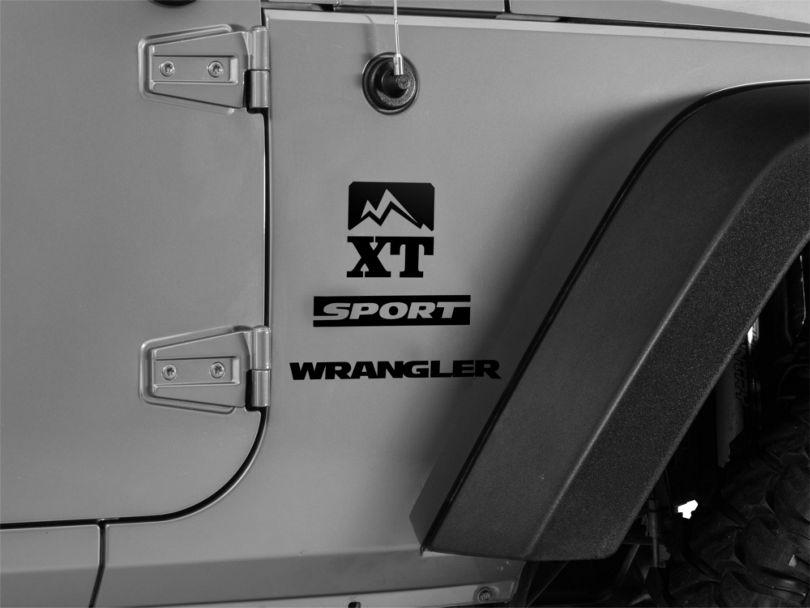 Side Logo Gloss Black (87-20 Jeep Wrangler YJ, TJ, JK & JL)