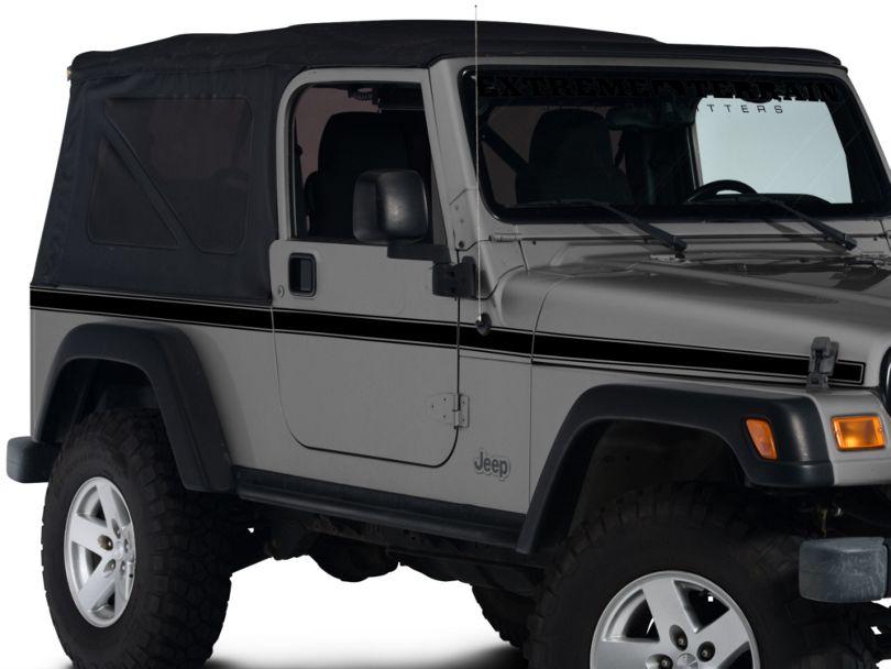Side Stripe - Black (97-06 Jeep Wrangler TJ)