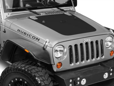 XT Graphics Hood Decal - Matte Black (07-18 Jeep Wrangler JK)