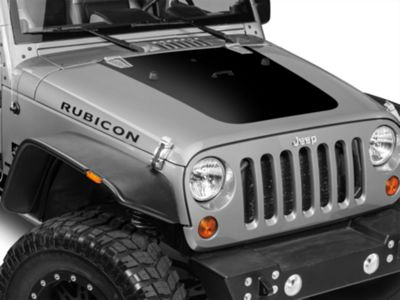 Hood Decal - Black (07-18 Jeep Wrangler JK)