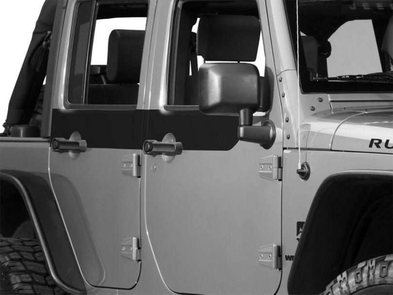 Door Accents - Black (07-18 Jeep Wrangler JK 4 Door)