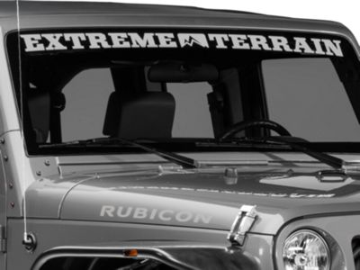 ExtremeTerrain Windshield Banner - Silver (87-18 Jeep Wrangler YJ, TJ, JK & JL)