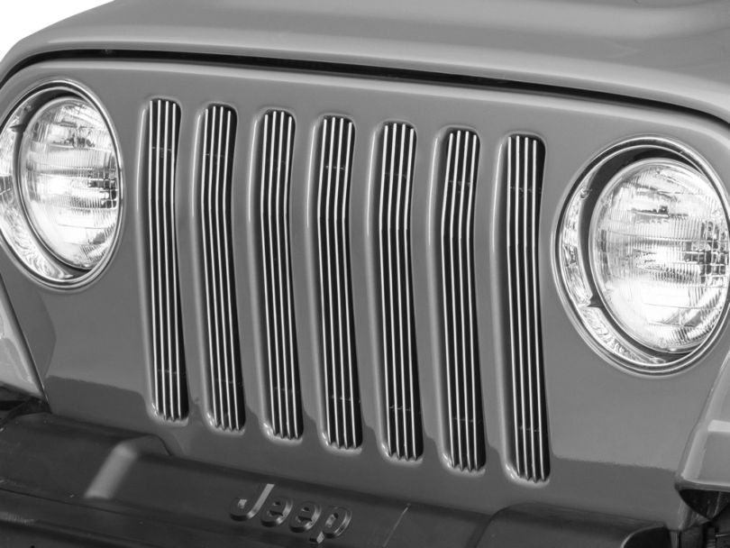 RedRock 4x4 Billet Grille Inserts - Polished (97-06 Jeep Wrangler TJ)