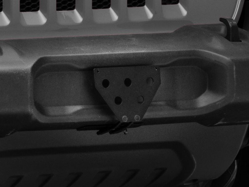 Sto N Sho Detachable Front License Plate Bracket for Plastic Bumpers (18-20 Jeep Wrangler JL)